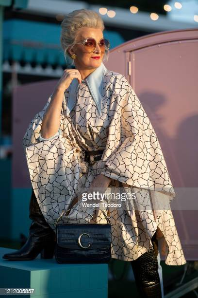 Lisa March poses ahead of the Runway 3 show at Melbourne Fashion Festival on March 12 2020 in Melbourne Australia