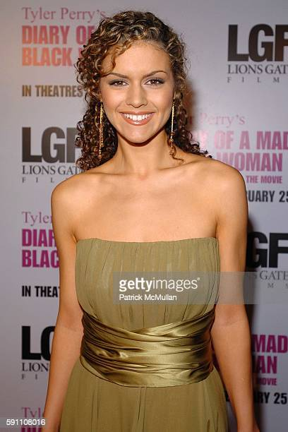 "Lisa Marcos attends World Premiere of Lions Gate Films' ""Diary of a Mad Black Woman"" at ArcLight Cinerama Dome on February 21, 2005 in New York City."