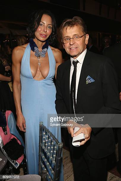 Lisa Maria Falcone and Mikhail Baryshnikov attend New York City Ballet 2016 Fall Fashion Gala at David H Koch Theater Lincoln Center on September 20...