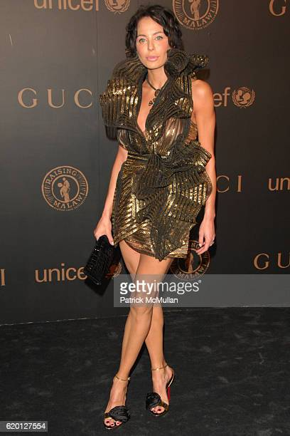Lisa Maria Falcone attends GUCCI and MADONNA host A NIGHT TO BENEFIT RAISING MALAWI AND UNICEF at the United Nations on February 6 2008 in New York...