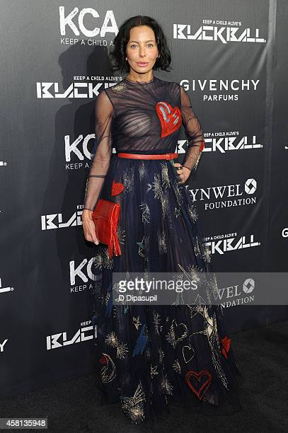 Lisa Maria Falcone attends the 9th annual Keep A Child Alive Black Ball at Hammerstein Ballroom on October 30 2014 in New York City