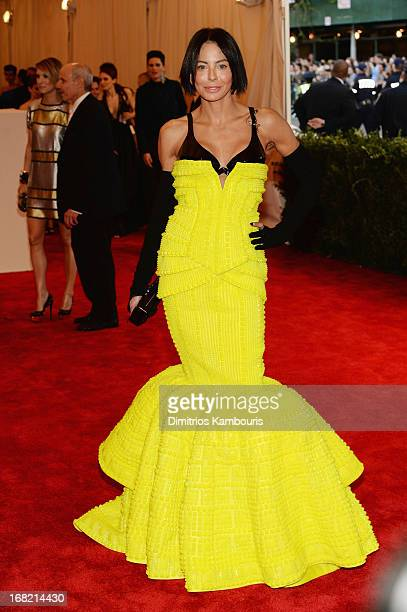 Lisa Maria Falcone attends the Costume Institute Gala for the PUNK Chaos to Couture exhibition at the Metropolitan Museum of Art on May 6 2013 in New...