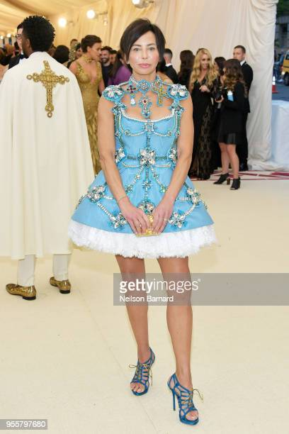 Lisa Maria Falcone attends the Heavenly Bodies Fashion The Catholic Imagination Costume Institute Gala at The Metropolitan Museum of Art on May 7...