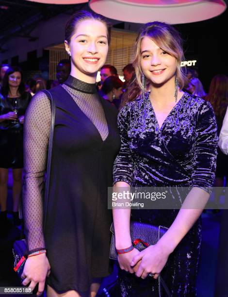 Lisa Maria Koroll and her sister attend the Tribute To Bambi after show party at Berlin Station on October 5 2017 in Berlin Germany