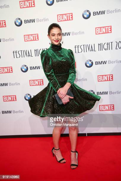 Lisa Maria Koroll attends the BUNTE BMW Festival Night on the occasion of the 68th Berlinale International Film Festival Berlin at Restaurant...