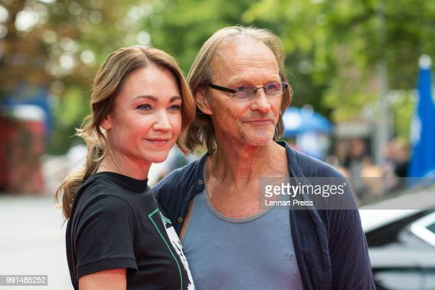 Lisa Maria Potthoff and Eisi Gulp attend the premiere of the movie 'Bier Royal' as part of the Munich Film Festival 2018 at Gasteig on July 4 2018 in...