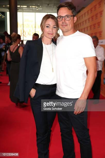 Lisa Maria Potthoff and her husband Thorsten Berg during the 'Sauerkrautkoma' premiere at Mathaeser Filmpalast on August 6 2018 in Munich Germany