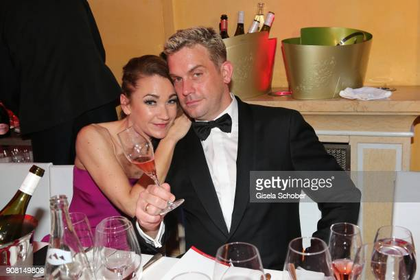Lisa Maria Potthoff and Sebastian Bezzel during the German Film Ball 2018 party at Hotel Bayerischer Hof on January 20 2018 in Munich Germany