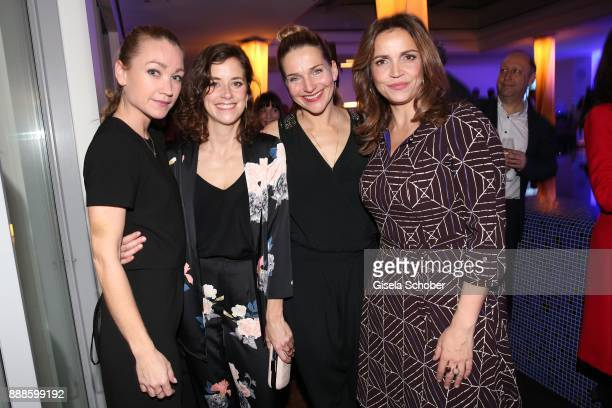 Lisa Maria Potthoff Anja Knauer Tanja Wedhorn and Rebecca Immanuel during the ARD advent dinner hosted by the program director of the tv station...