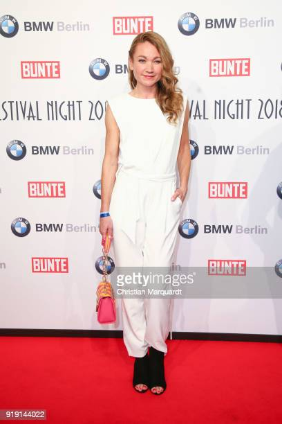 Lisa Maria Potthoff attends the BUNTE BMW Festival Night on the occasion of the 68th Berlinale International Film Festival Berlin at Restaurant...