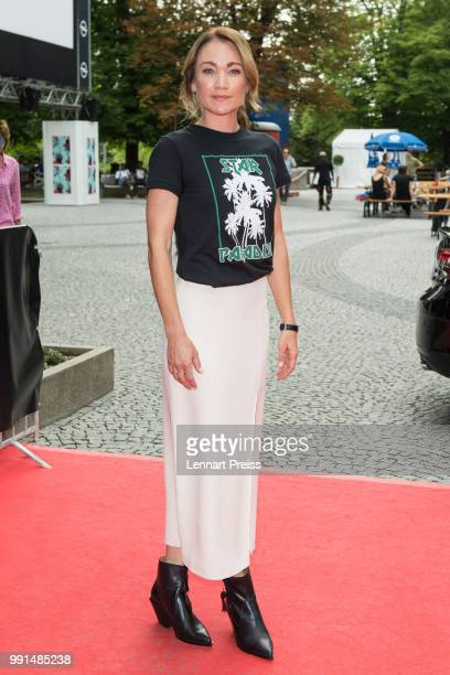 Lisa Maria Potthoff attends the premiere of the movie 'Bier Royal' as part of the Munich Film Festival 2018 at Gasteig on July 4 2018 in Munich...