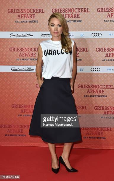 Lisa Maria Potthoff during the 'Griessnockerlaffaere' premiere at Mathaeser Filmpalast on August 1 2017 in Munich Germany