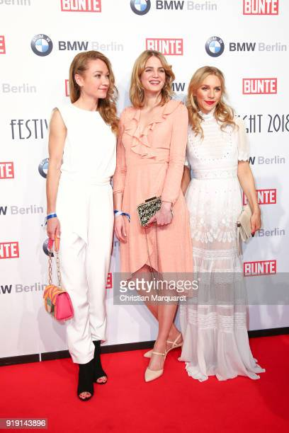 Lisa Maria Potthoff Rike Schmid and Julia Dietze attend the BUNTE BMW Festival Night on the occasion of the 68th Berlinale International Film...