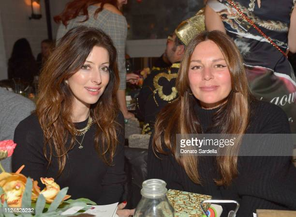 Lisa Marie Fernandez and guest attend Liz Goldwyn and MATCHESFASHIONCOM celebrate the launch of Frieze LA at Gracias Madre on February 13 2019 in...