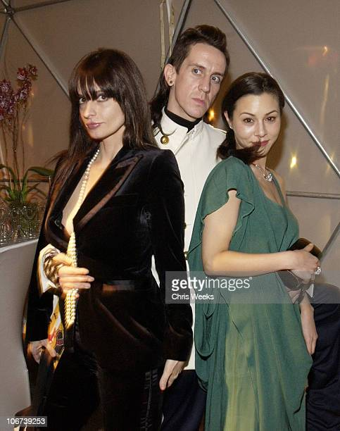 Lisa Marie Jeremy Scott and China Chow during W Magazine Celebrates Their First Golden Globes Event Presented With Cartier And MAC Cosmetics Inside...