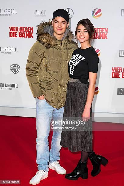 Lisa Marie Koroll and guest attend the German premiere of the film 'Vier gegen die Bank' at CineStar on December 13 2016 in Berlin Germany