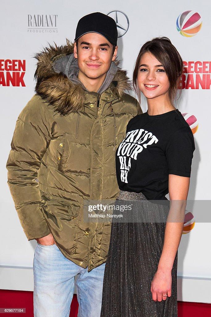Lisa Marie Koroll and guest the German premiere of the film 'Vier gegen die Bank' at CineStar on December 13, 2016 in Berlin, Germany.