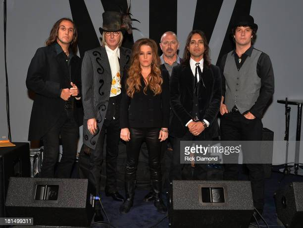 Lisa Marie Presley and Band backstage at 3rd Lindsley during the 14th Annual Americana Music Festival Conference Day 3 on September 20 2013 in...