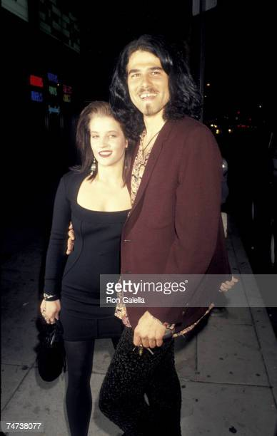 Lisa Marie Presley and Danny Keough at the Club Lingerie in Hollywood California