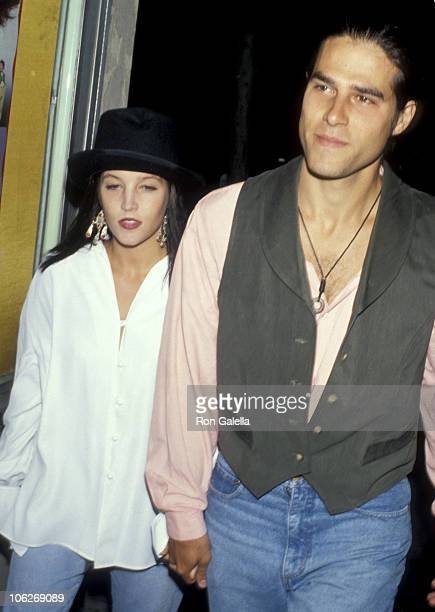 Lisa Marie Presley and Danny Keough during The Naked Gun 2 1/2 The Smell of Fear Los Angeles Screening June 13 1991 at Mann's Bruin Theater in...