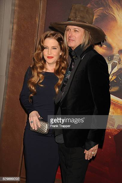 """Lisa Marie Presley and husband Michael Lockwood arrive at the premiere of """"Mad Max: Fury Road"""" held at the TCL Chinese Theater in Hollywood."""