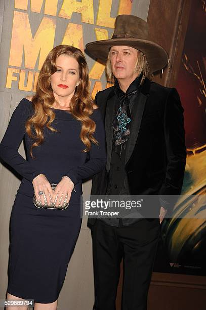 Lisa Marie Presley and husband Michael Lockwood arrive at the premiere of Mad Max Fury Road held at the TCL Chinese Theater in Hollywood