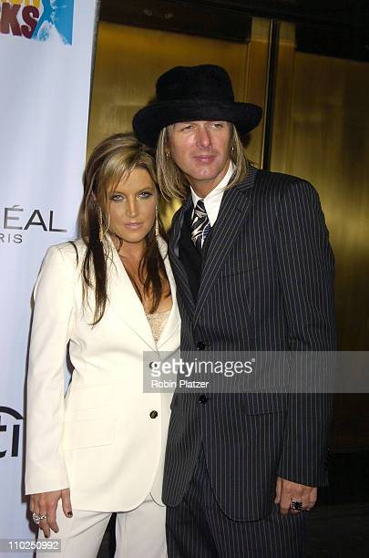 Lisa Marie Presley and Michael Lockwood during 2005 Fashion Rocks Red Carpet at Radio City Music Hall in New York City New York United States