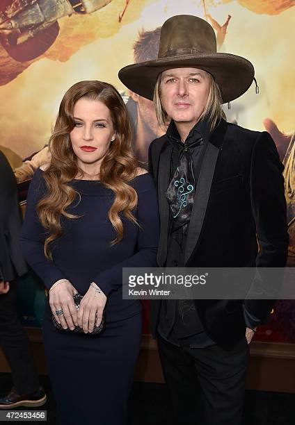 Lisa Marie Presley and musician Michael Lockwood attend the premiere of Warner Bros Pictures' Mad Max Fury Road at TCL Chinese Theatre on May 7 2015...