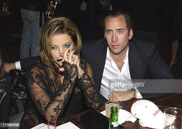Lisa Marie Presley and Nicolas Cage during MTV After Party at the Hudson Hotel at Hudson Hotel in New York City New York United States