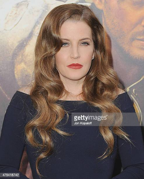 Lisa Marie Presley arrives at the Los Angeles Premiere Mad Max Fury Road at TCL Chinese Theatre IMAX on May 7 2015 in Hollywood California