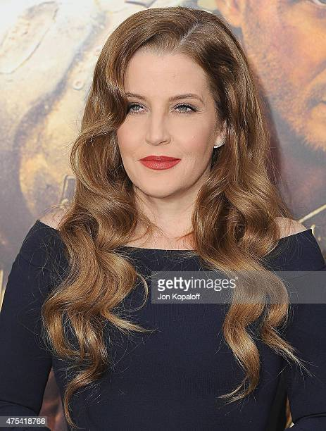 Lisa Marie Presley arrives at the Los Angeles Premiere 'Mad Max Fury Road' at TCL Chinese Theatre IMAX on May 7 2015 in Hollywood California