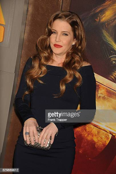 """Lisa Marie Presley arrives at the premiere of """"Mad Max: Fury Road"""" held at the TCL Chinese Theater in Hollywood."""