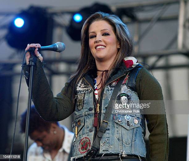 Lisa Marie Presley during 1027 KIIS FM's Wango Tango 2003 The Ultimate Reality Show at Rose Bowl in Pasadena CA United States