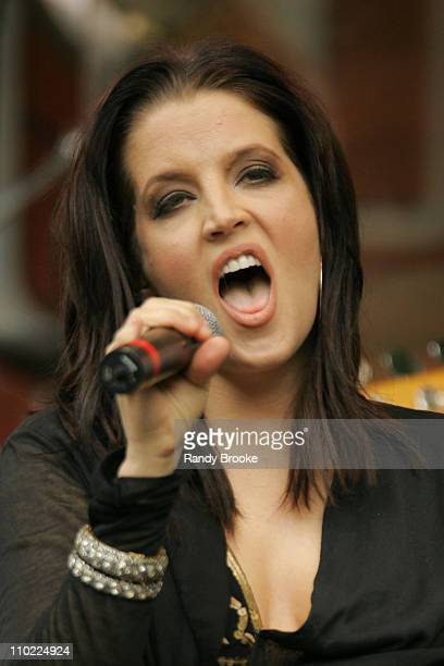 Lisa Marie Presley during Lisa Marie Presley Performs At J R Music World May 192005 at City Hall Park in New York City New York United States