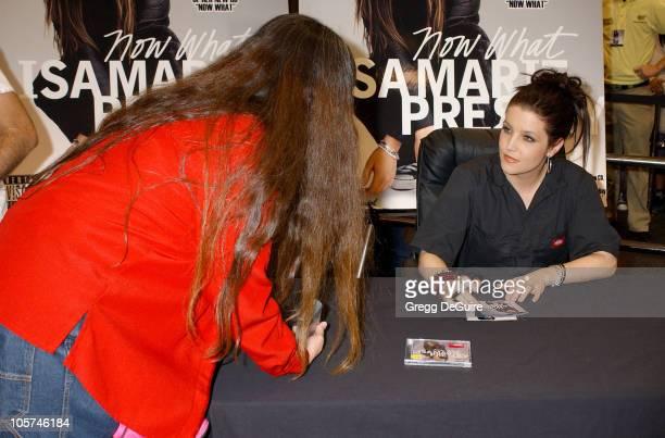 Lisa Marie Presley during Lisa Marie Presley Signs Her Album Now What at Best Buy in Costa Mesa at Best Buy in Costa Mesa California United States