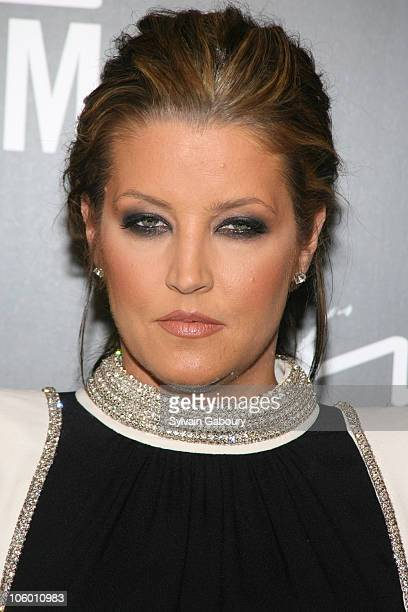 Lisa Marie Presley during MAC Cosmetics Celebrates Viva Glam VI with Exclusive Dinner Arrivals at Cedar Lake in New York New York United States