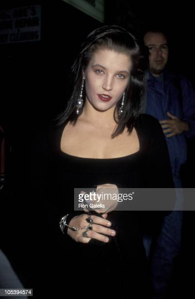 Lisa Marie Presley during Performance of 10 Inch Men at Club Lingerie in Hollywood California United States