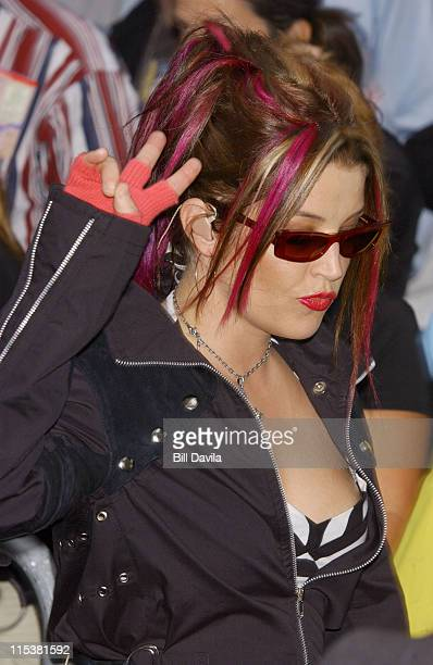Lisa Marie Presley during The Today Show's 2003 Summer Concert Series Lisa Marie Presley at Rockefeller Plaza in New York City New York United States
