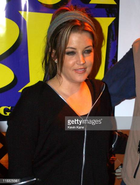 Lisa Marie Presley during WBLI Summer Jam 2003 Backstage at Jones Beach Amphitheatre in Wantagh New York United States