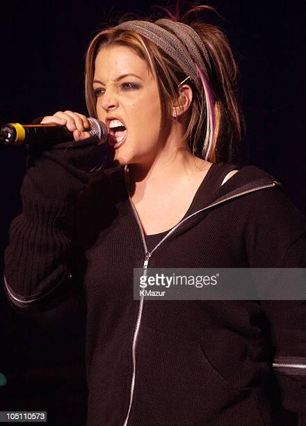 Lisa Marie Presley during WBLI Summer Jam 2003 Show at Jones Beach Amphitheatre in Wantagh New York United States