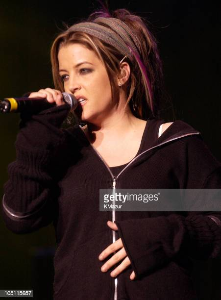 Lisa Marie Presley during WBLI Summer Jam 2003 Show at Jones Beach Amphitheatre in Wantagh New York United States