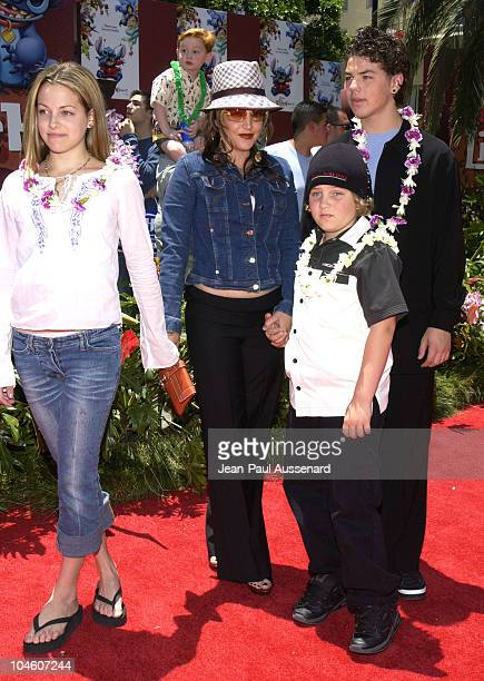Lisa Marie Presley family during 'Lilo and Stitch' Premiere at El Capitan Theater in Hollywood California United States