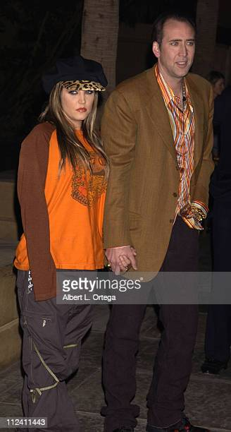 Lisa Marie Presley Nicolas Cage during Screening of Adaptation at The Egyptian Theater in Hollywood California United States