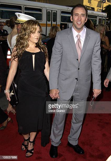 Lisa Marie Presley Nicolas Cage during Windtalkers Premiere at Grauman's Chinese Theatre in Hollywood California United States