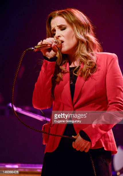 Lisa Marie Presley performs at the Gramercy Theatre on June 14, 2012 in New York City.