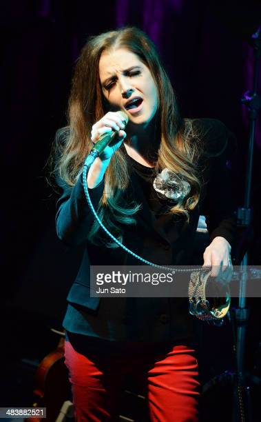 Lisa Marie Presley performs live to promote her new album 'Storm Grace' at the Blue Note in Tokyo Japan