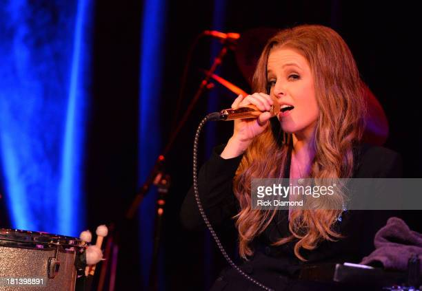Lisa Marie Presley perfprms during the 14th Annual Americana Music Festival Conference Festival Day 3 on September 20 2013 in Nashville United States