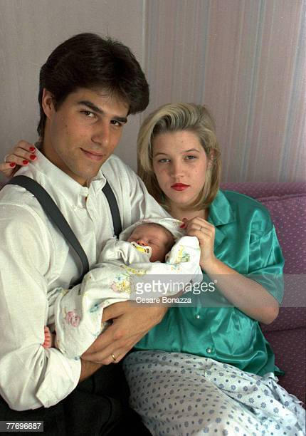 Lisa Marie Presley with Husband Danny Keough and baby Danille Riley Keough Studio in Los Angeles Lisa Marie Presley Family Los Angeles California