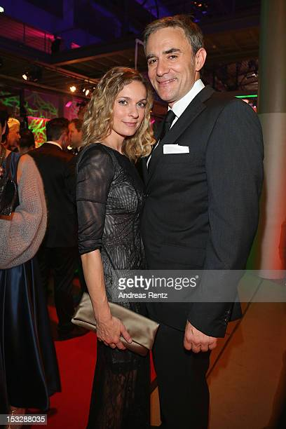 Lisa Martinek and Giulio Ricciarelli attend the German TV Award patzy 2012 at Coloneum on October 2 2012 in Cologne Germany