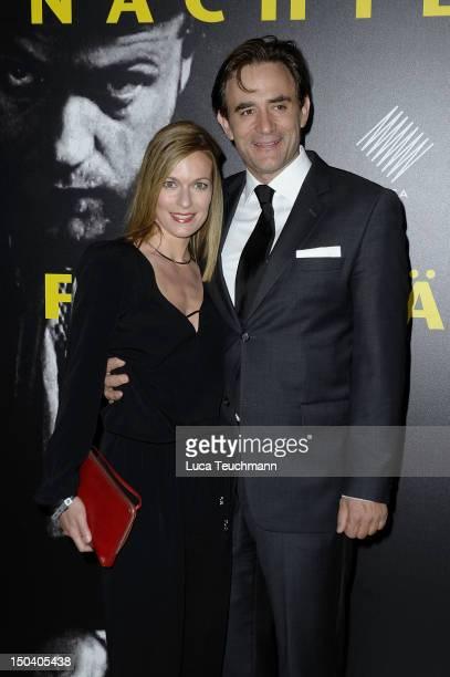 Lisa Martinek and Giulio Ricciarelli attend the 'UFA Filmnaechte' at the Bertelsmann representative office on August 16 2012 in Berlin Germany